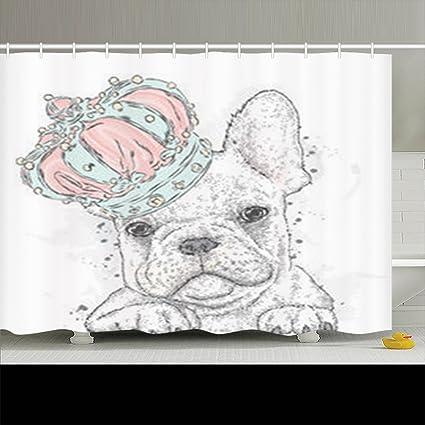 Amazon InnoDIY Shower Curtains Decorative Design Cute Puppy
