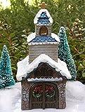 Miniature Fairy Garden House Victorian Village Christmas Church With Led Light