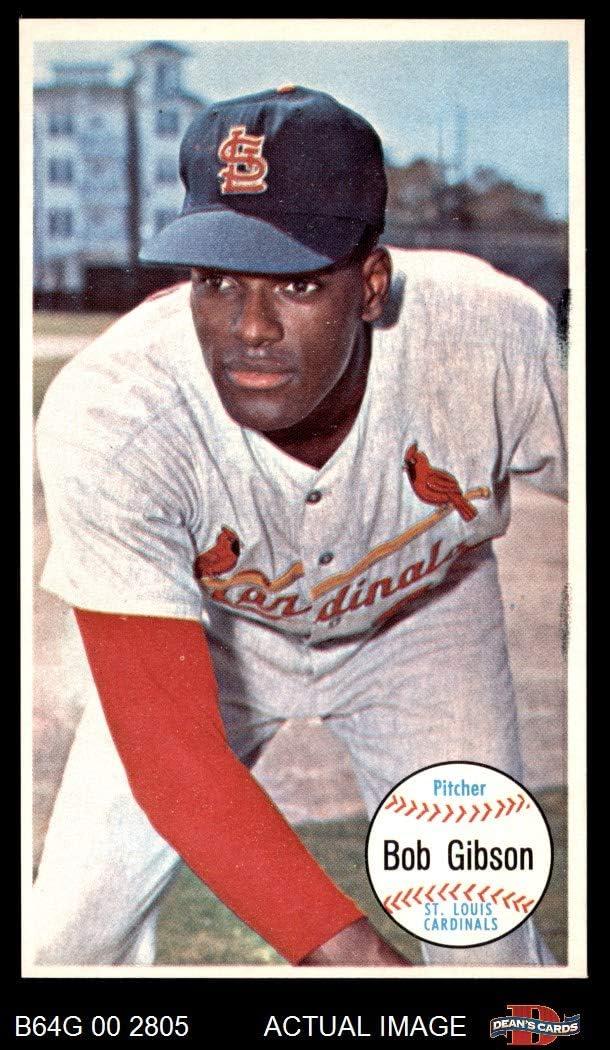 1964 Topps # 41 Bob Gibson St. Louis Cardinals (Baseball Card) Dean\'s Cards 6 - EX/MT Cardinals 619U2Bgux2SL