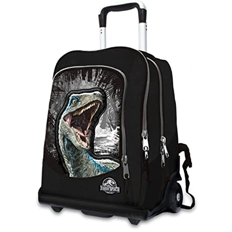 selezione premium 1c8d3 47cf9 TROLLEY ZAINO JURASSIC WORLD GUT nero dinosauro rex 2018 ...