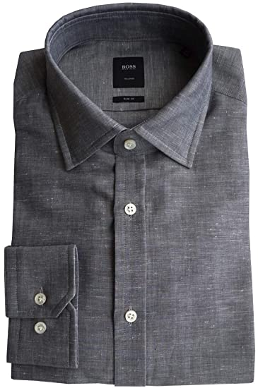 3d60cb199 Hugo Boss Tailored Shirt T-Shane 50310746 Size 40(15 3/4) Slim, Canvas:  Amazon.co.uk: Clothing