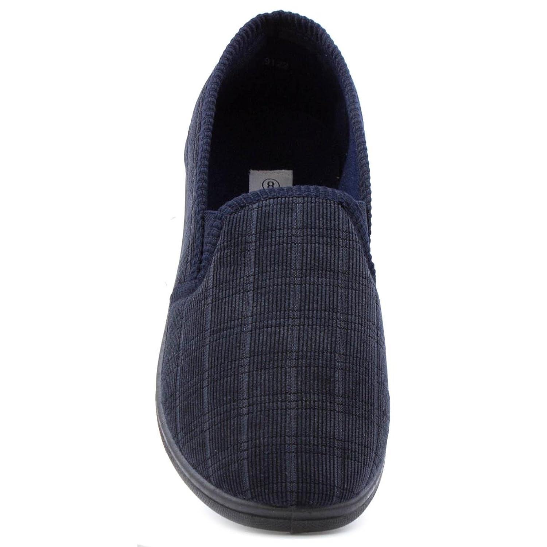 The Slipper Company - Pantufla a cuadros, azul marino, para hombre - Talla 6 UK / 39.5 EU - Azul