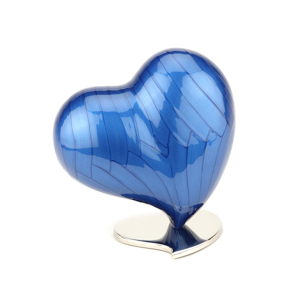 Urns UK Cremation Ashes Urn, Heart, Large, Watford Pearl UU420009A