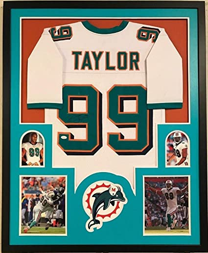 Framed Jason Taylor Autographed Signed Miami Dolphins Jersey JSA  free shipping