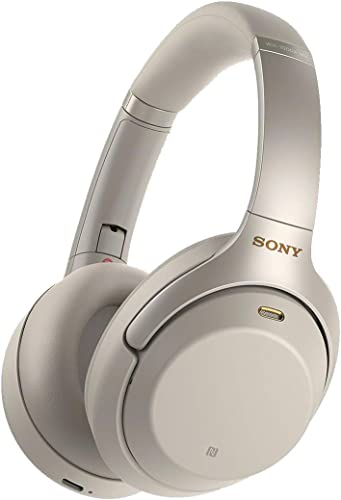 Sony WH1000XM3 Bluetooth Wireless Noise Canceling Headphones Silver WH-1000XM3 S Renewed