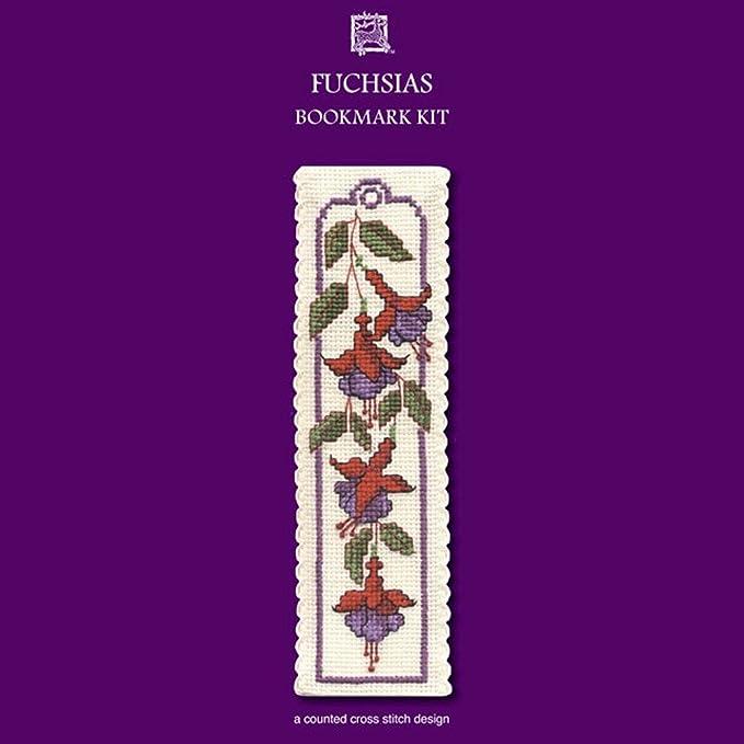 HONEYSUCKLE BOOKMARK CROSS STITCH KIT BY TEXTILE HERITAGE