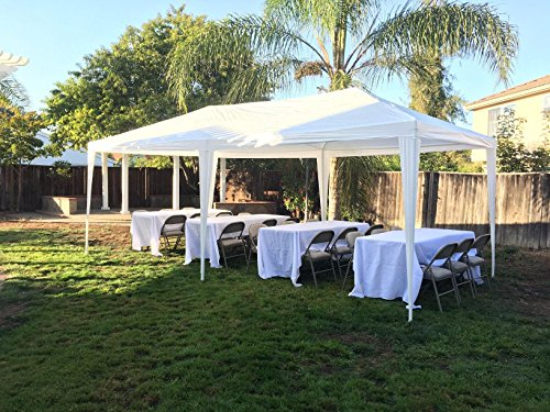 Quictent 10′ x 20′ Party Tent Gazebo Wedding Canopy BBQ Shelter Pavilion With Removable Sidewalls & Elegant Church (10'x20′)