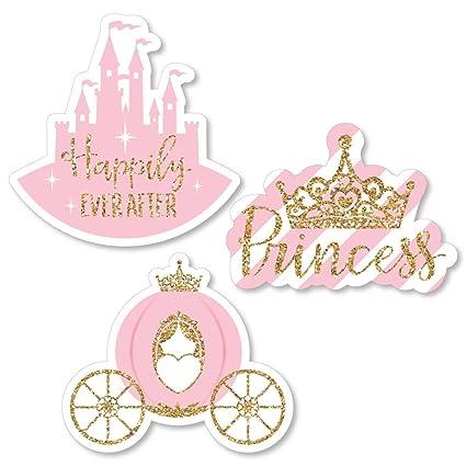 amazon com big dot of happiness little princess crown diy shaped