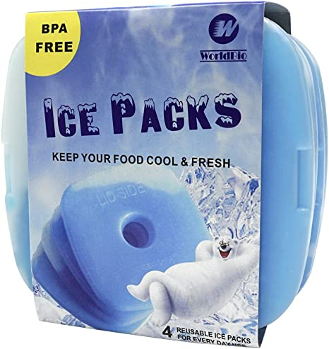 Cool Therapy Picnic Travel Cooler Pack Lunch Box Ice Blocks Gel Freezer