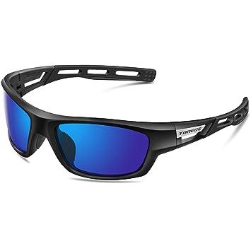 Gafas de sol unisex, polarizadas, ideales para practicar deportes como golf, ciclismo, pesca, y más, marca Torege (TR007),…