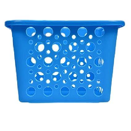 Plastic Storage Bins Blue Baskets Classroom Play Room Dorm