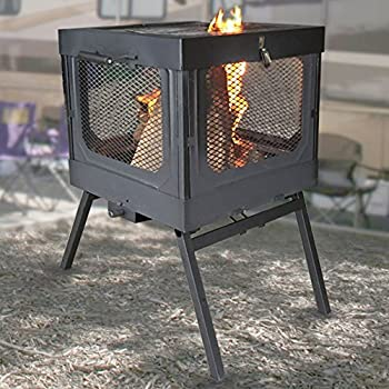 Gentil Global Outdoors Portable Fire Pit Grill Flame Caddy