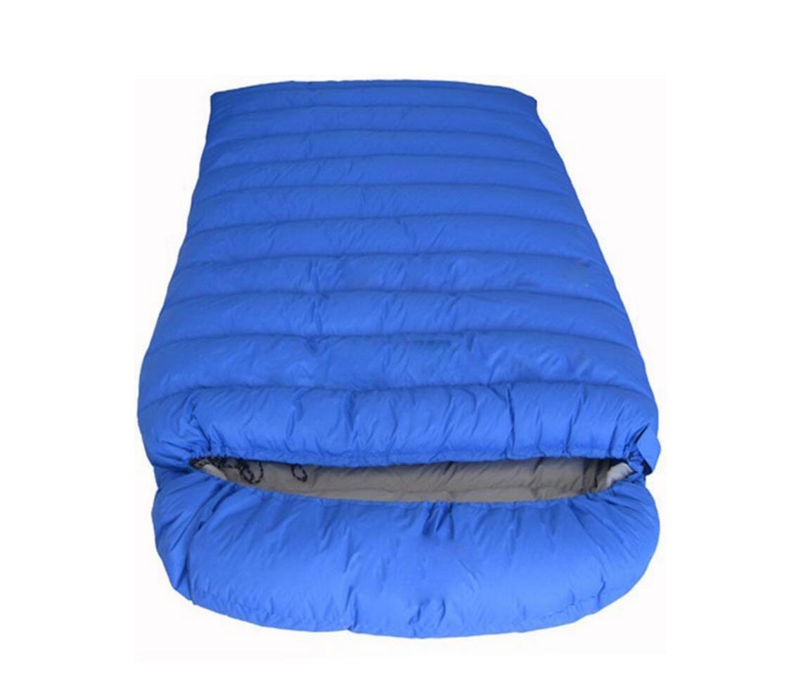封筒Goose Down Sleepingバッグ超軽量アウトドアキャンプ用品大人用increase旅行Sleepingバッグ600 g-2000g 2500g ブルー B076MQ5VFB