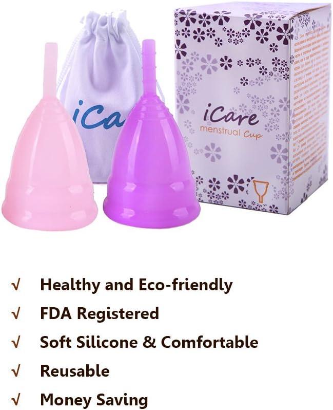 Copa menstruación orgánica reutilizable taza menstrual de ...
