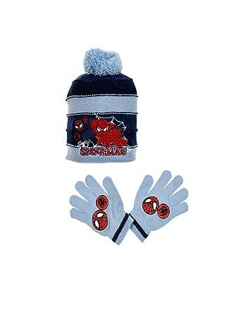 Bonnet et gants enfant garçon Spider-man Gris et Bleu de 3 à 9ans   Amazon.fr  Vêtements et accessoires 9c305d0aa09