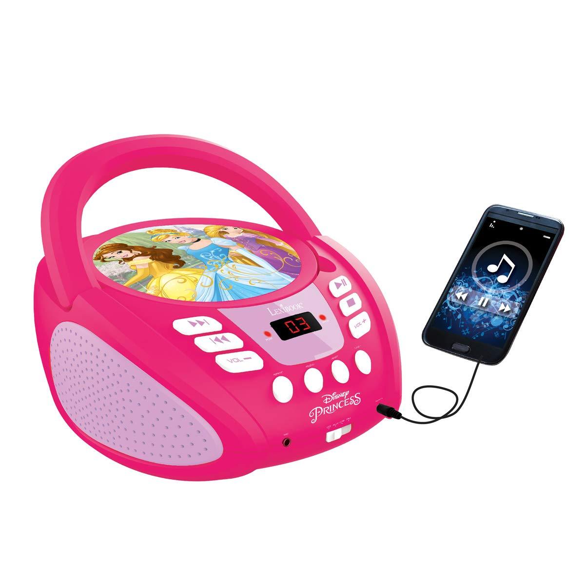 LEXiBOOK Disney Princess Boombox Radio CD Player by LEXiBOOK (Image #7)