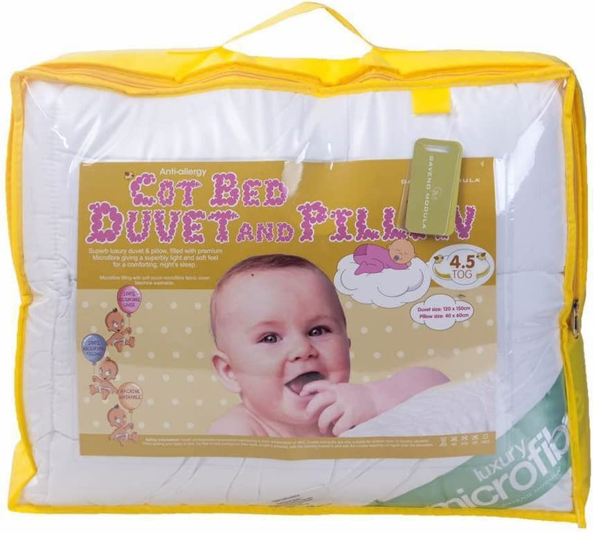 Anti-Allergy Microfibre Cot duvet With Pillow Toddler Cot bed Or Junior Bed Duvet With Pillow Soft Touch for kids Suitable For 9.0Tog