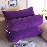 Amyove 1PCS Pillow Triangle Sofa Cushion Pillow Bed Lumbar Pad Fashion Household Decoration Pure Color Christmas Gift purple