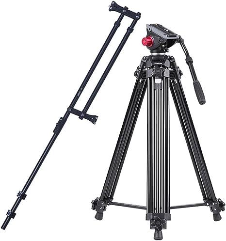 Andoer aleación de aluminio cámara de vídeo trípode panorámico ...