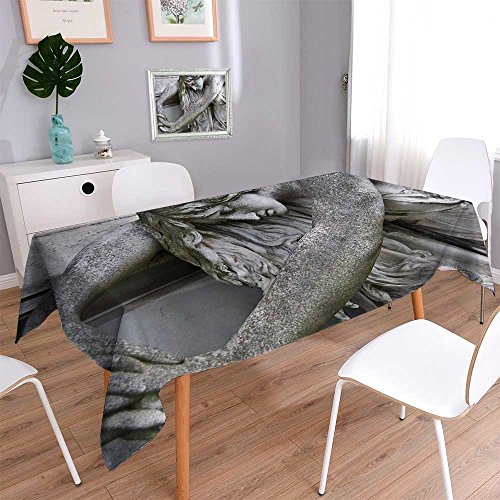 Price comparison product image Linen Square TableclothStatue Praising and Making Offerings Sunin Hg Kg Bathroom Washable Table cloth Dinner Kitchen Home Decor / 52W x 70L Inch