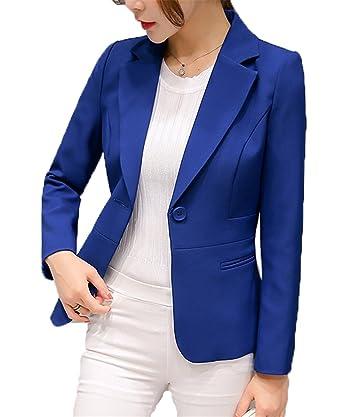 10688f40f108d YINUO レディース トップス テーラード ジャケット スーツ 長袖 着痩せ 春 オフィス カジュアル ビジネス きれいめ ブレザー ショート