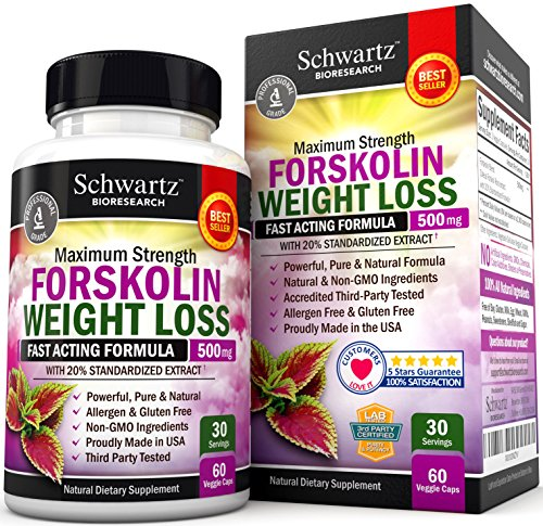 Forskolin Extract for Weight Loss. Pure Forskolin Diet Pills & Belly Buster Supplement. Premium Appetite Suppressant, Metabolism Booster, Carb Blocker & Fat Burner for Women and Men Coleus - Carb Burner