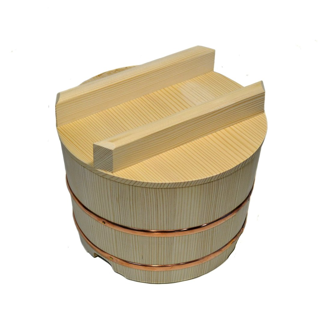 Ohitsu Wooden Rice Jar Wooden Containers 630ml(21.3 fl oz)