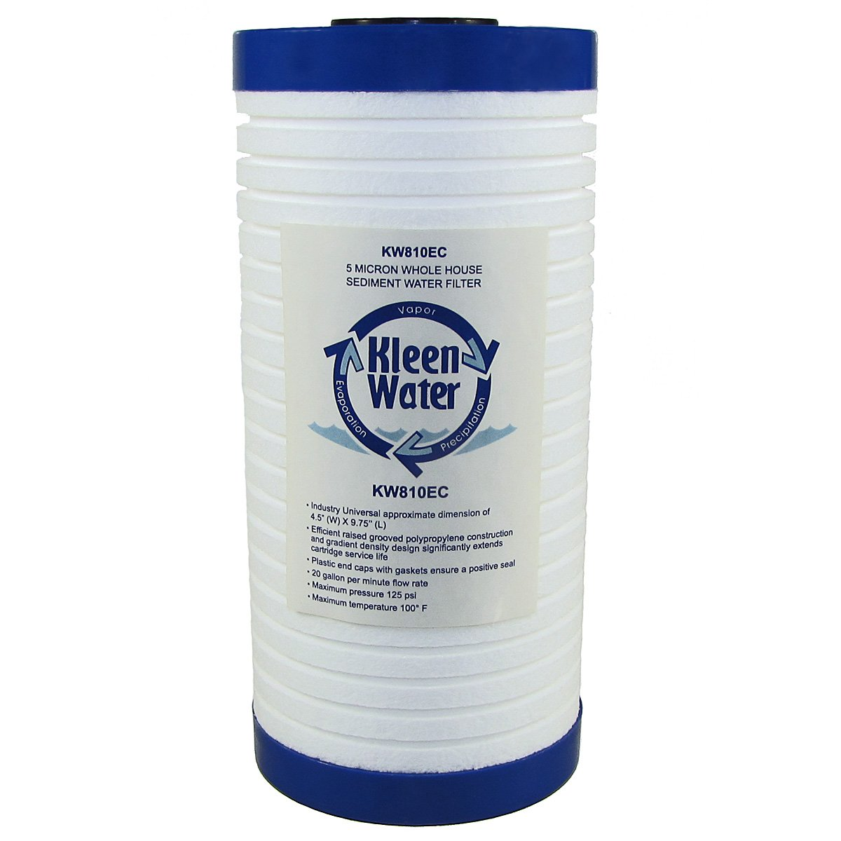 KleenWater KW810EC Filter 5 Micron Compatible with Whirlpool WHKF-GD25BB and Omnifilter BF7 Replacement Sediment Water Filter Cartridge