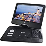 Portable DVD Player, Buyee 13.3'' Portable in Car DVD + ATV Player 270° Swivel Screen USB SD + Free 300 Games CD (Black)