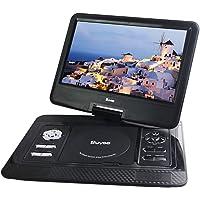Portable DVD Player, Buyee 13.3'' Portable in Car DVD + ATV Player 270° Swivel Screen USB SD + Free 300 Games CD (Blue)