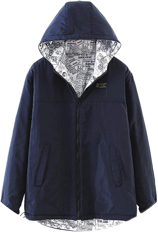 Hot Women Autumn Winter Thick Jacket Coat Hooded Windbreaker Outwear Female Two Side Wear Coat