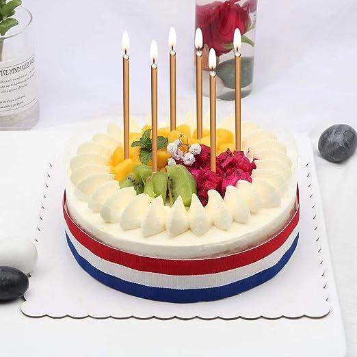 Mokaro - Velas de cumpleaños de 48 Hilos, Color Dorado ...
