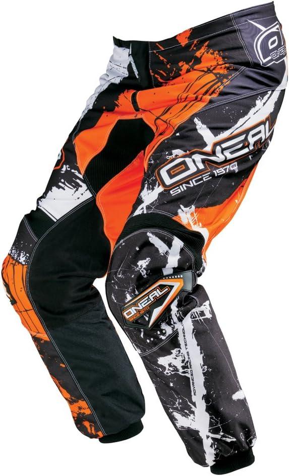 color negro y blanco Pantal/ón largo para bicicleta de monta/ña ONEAL Element MX DH
