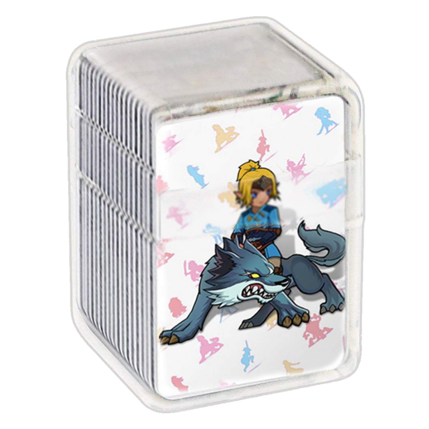 GURLLEU Botw NFC Tag Game Cards for the Legend of Zelda Breath of the Wild Compatible with Switch/Wii U - 23pcs Mini Cards with Crystal Case