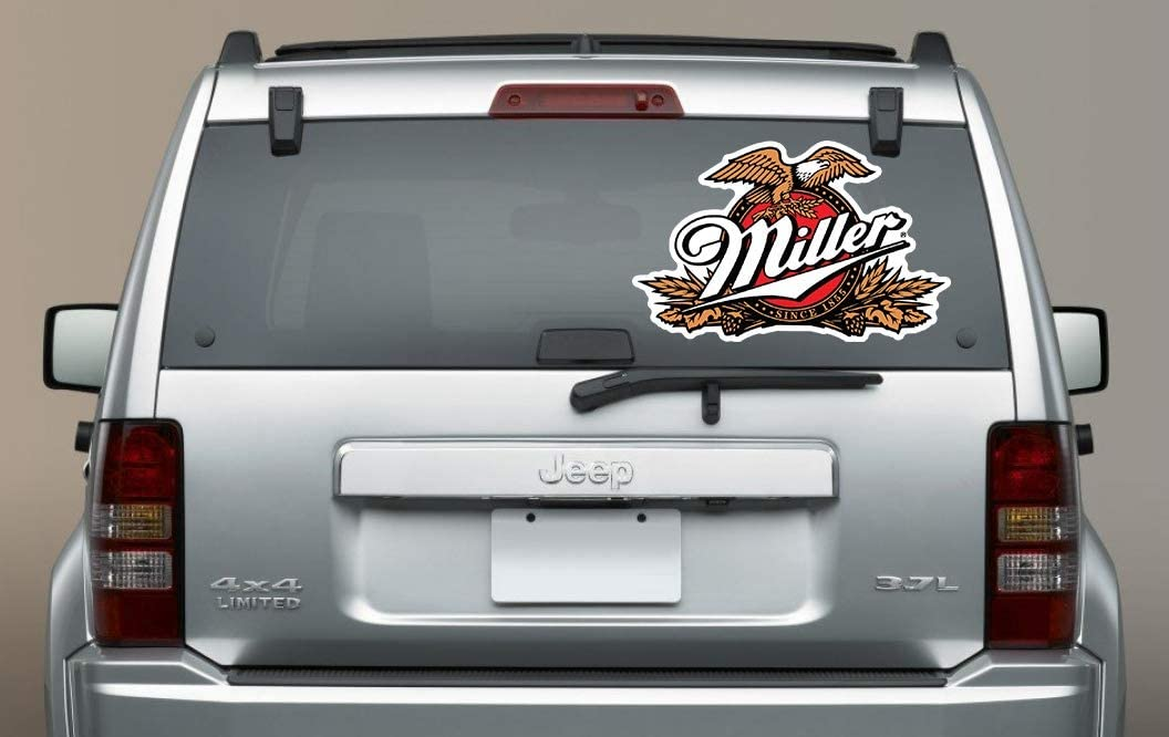 Miller Eagles Sticker 3 in Miller Genuine Draft Beer Vinyl Decal Logo Drink