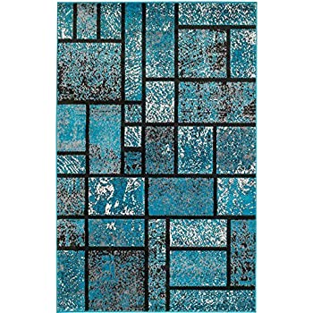 Amazon Com Summit 41new Turquoise Geometric Area Rug