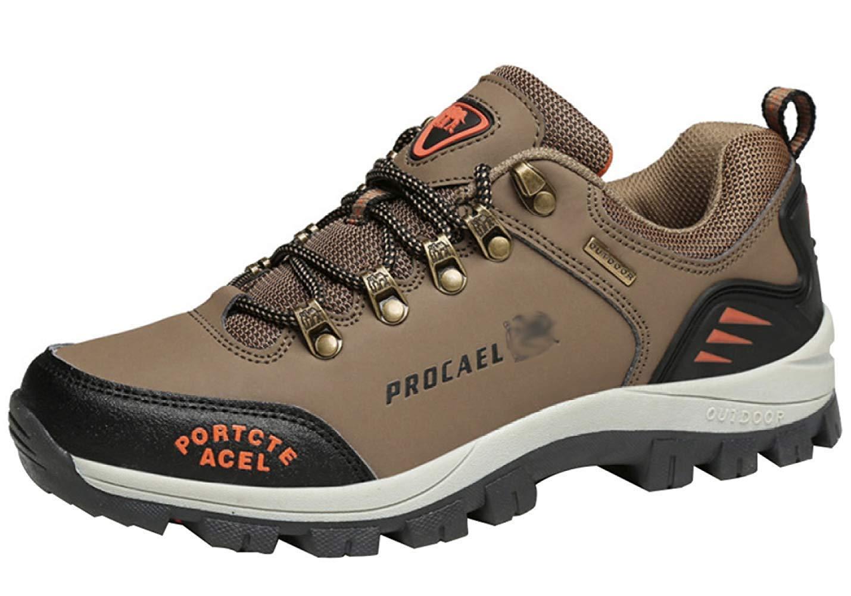 HhGold Männer Wanderschuhe Stiefel Leder Wanderschuhe Turnschuhe Für Outdoor Trekking Training Beiläufige Arbeit (Farbe : 15, Größe : 44EU)