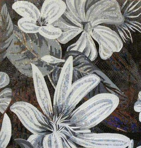 Mozaico Mosaic Tile Art - Flower Mosaic Lilly   Mosaic Designs   Mosaic Artwork   Mosaic Wall Art Handmade Mosaics   47