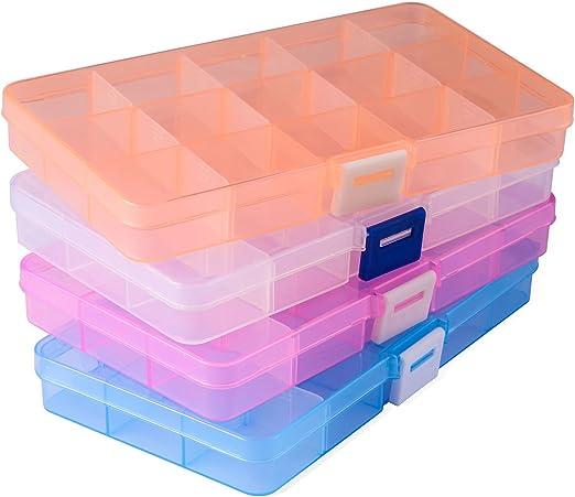 Opret 4 Pack Caja de Almacenamiento Caja Compartimentos de ...