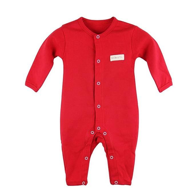 Unisex bebé algodón pijama pijamas de manga larga Pelele Onesie