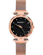 GOGOEY Reloj de Movimiento Análogo, Cuarzo, con Extensible de Metal, Acero Inoxidable