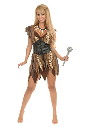 Charades Womenu0027s Cavewoman Costume Set Brown X-Small  sc 1 st  Amazon.com & Amazon.com: Charades Womenu0027s Cavewoman Costume Set: Clothing
