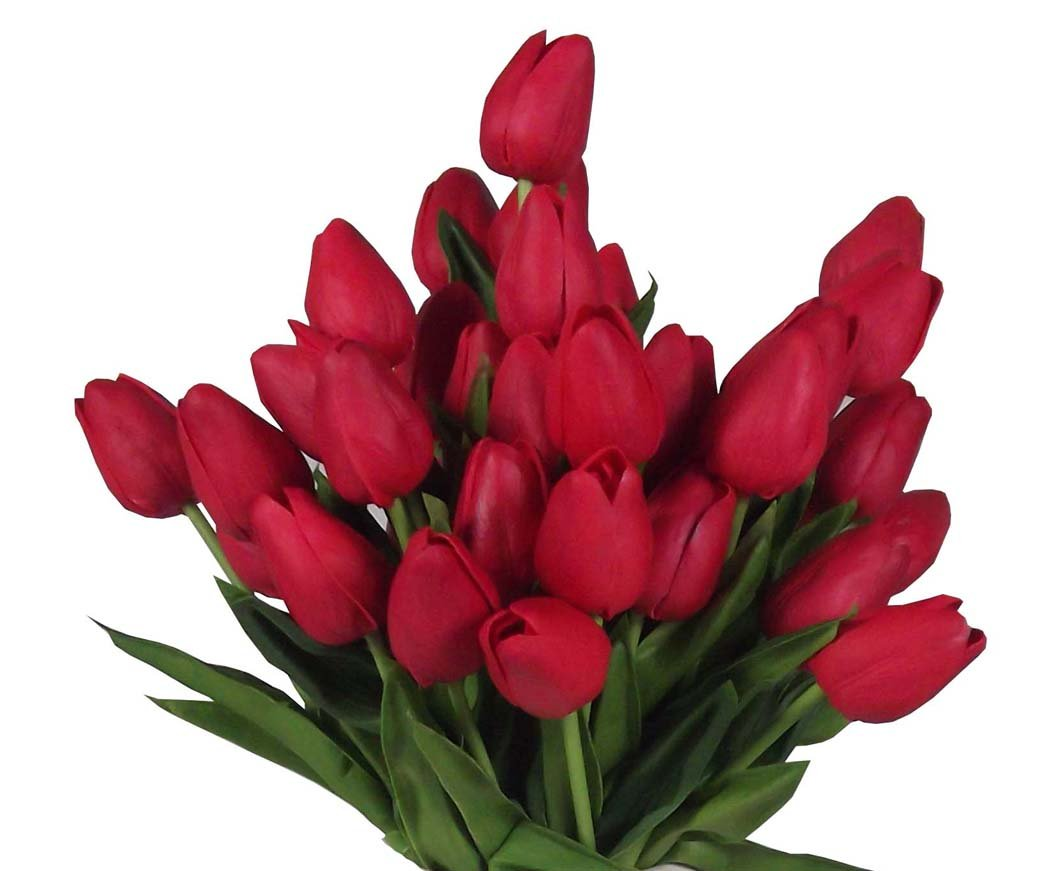 20-Heads-Home-Deocr-Mini-Tulip-Real-Touch-Tulip-Artificial-Flowers-Bouquets
