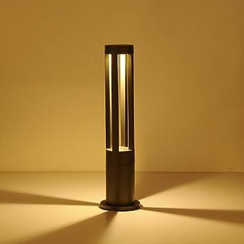 Moderno Sencillo Aluminio Material jardín luces Aire libre Espacios Césped Lámpara Fit jardín Hotel pati Impermeable Elegante Baliza Gris Iluminación exterior alto: Amazon.es: Bricolaje y herramientas