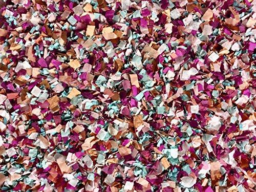 Burgundy Cabernet Aqua Blue Rose Gold Copper Ivory Confetti Mix Winter Wedding Shower Party Decorations Bulk Throwing Table Decor InsideMyNest (25 Handfuls) Eco Friendly Confetti