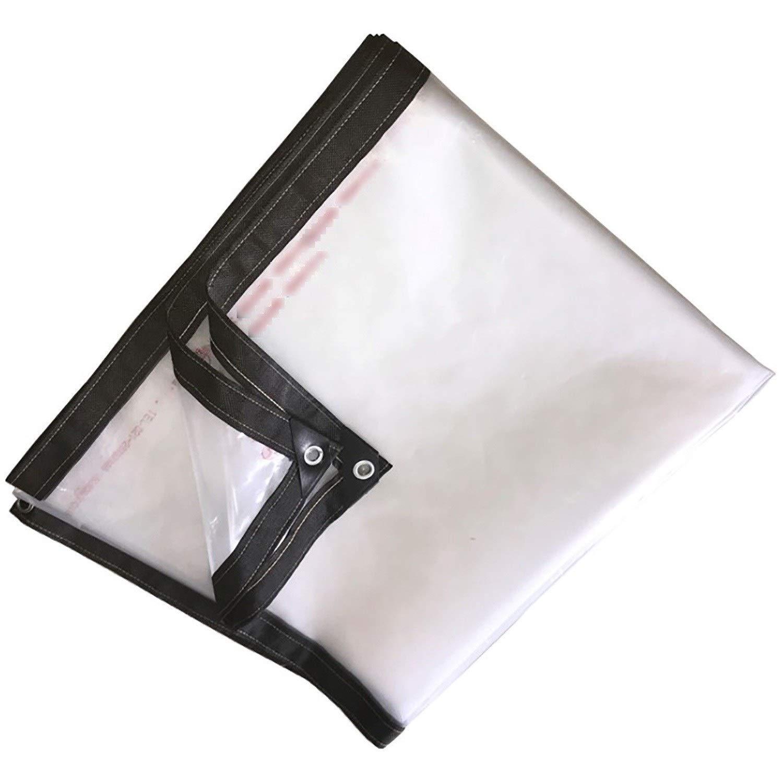 防雨防水シート グロメット、明確な透明な防水シート防水シートシェード布防水洗えるとシュリンクプルーフとヘビーデューティタープ (Color : Clean, Size : 5x7m) B07SQWG2CP Clean 5x7m