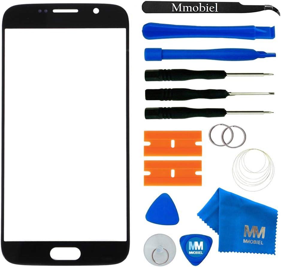 Outil 11 de pi/èce avec Pincette//Autocollant pr/é-d/écoup/é//Chiffon//Fil m/étallique /écran Tactile Inclus Noir MMOBIEL Kit de Remplacement vitre Frontale Compatible avec Samsung Galaxy S6 G920 Series