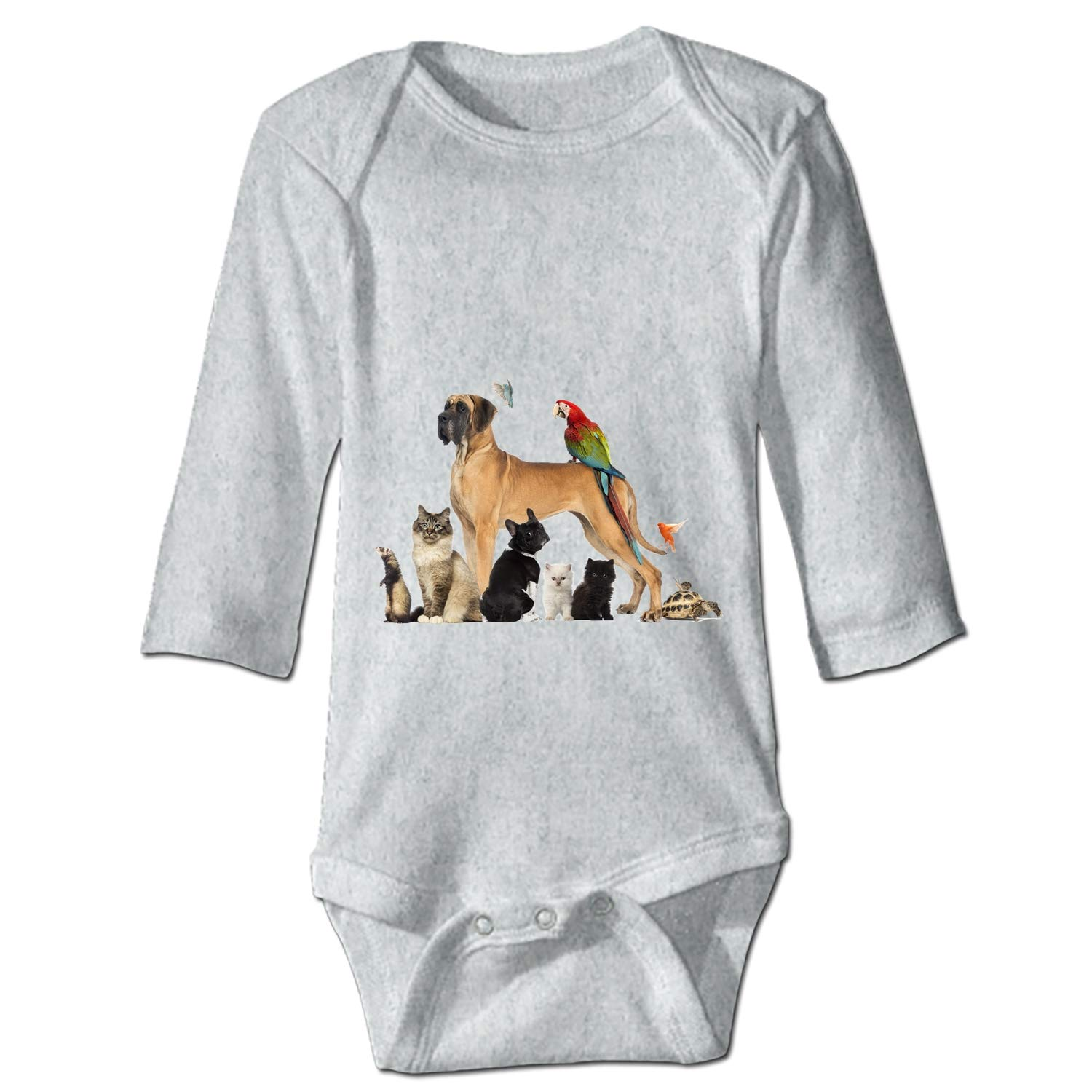 KuLuKo Newborn Baby Boys Girls Romper Jumpsuit Cotton Funny Pug
