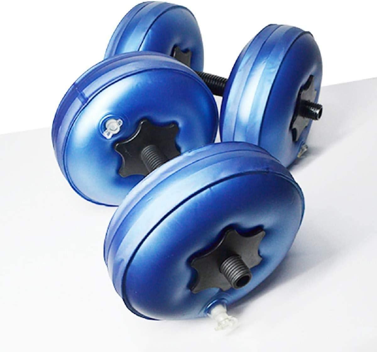 Aigend Juego de Mancuernas llenas de Agua,Portátiles y Ajustables para Equipos de Fitness 8-10 kg(Azul)