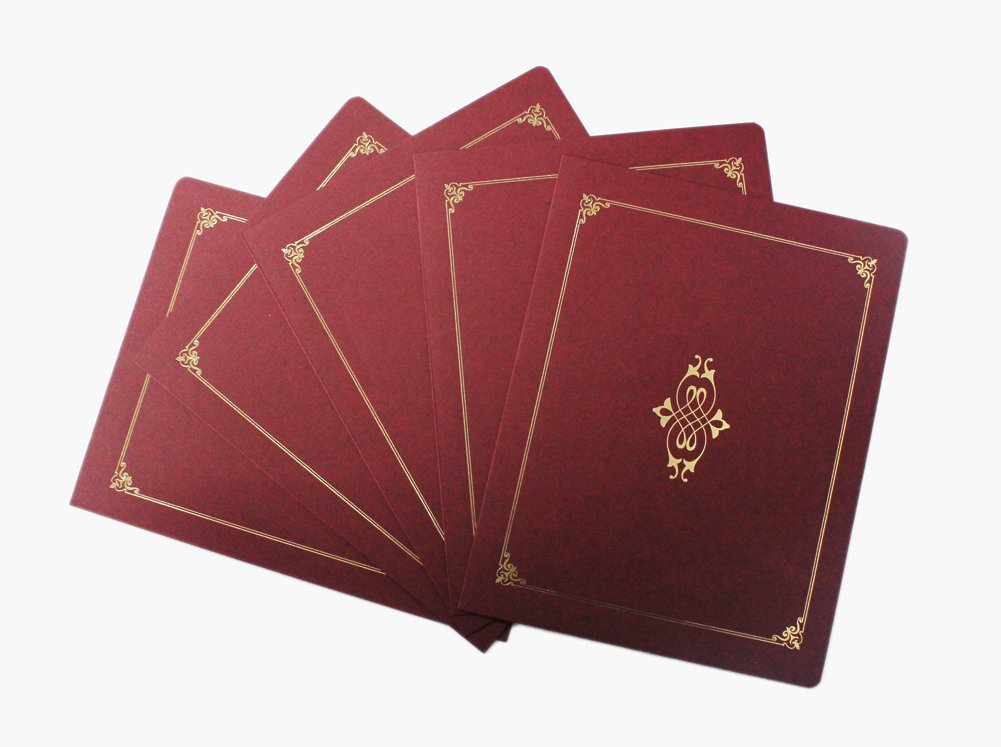 Graduationmall Certificate Holders 8 1/2 x 11 Inches,Maroon,5 per Pack